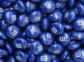 blue m&ms